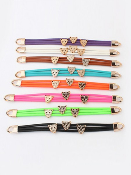 Occident Candy colors Summer All-match Leopard head Pulseras